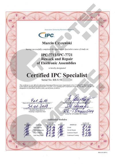 IPC Zertifikat Marcin Czyzewski